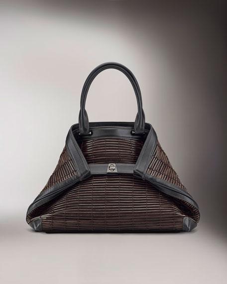 Ai Braided Leather Tote, Medium