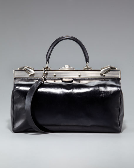 Busy Frame-Top Satchel