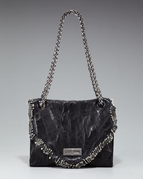 Safety Pin Chain-Strap Bag