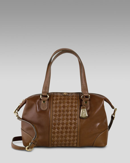 Cole Haan Archer Woven Panel Satchel