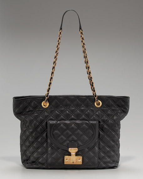Astor Quilted Shoulder Tote