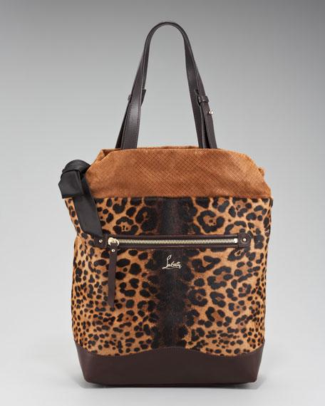 Pola Leopard-Print Tote