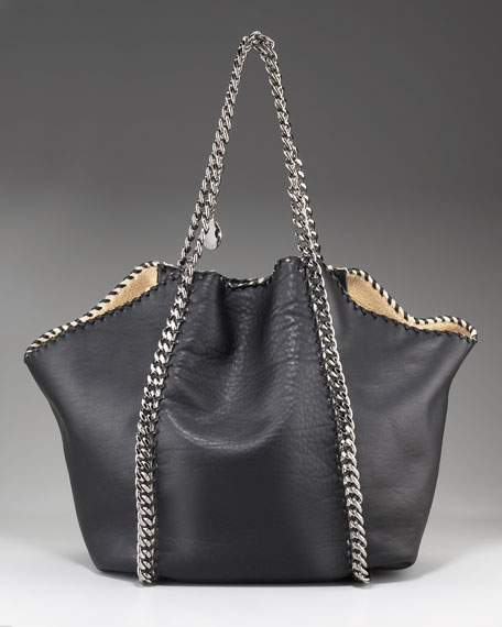 Faux Leather & Shearling Tote