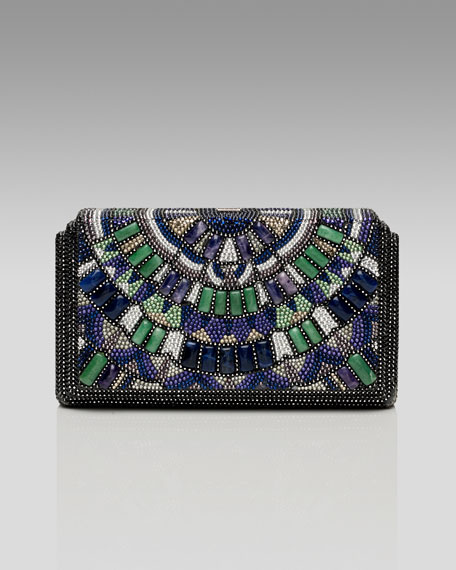 Houston Semiprecious & Crystal Beaded Clutch