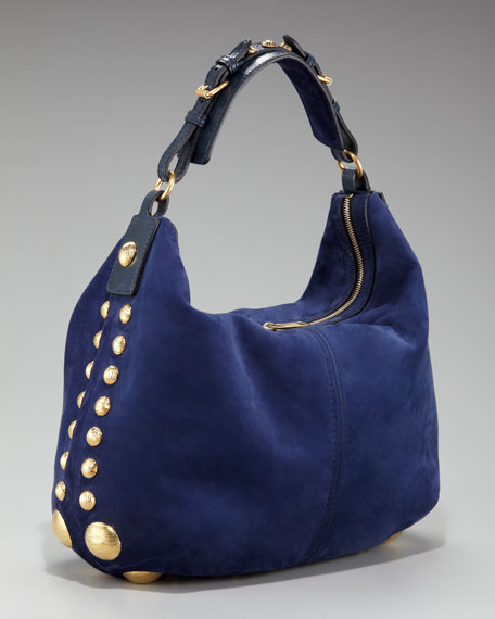 Chanter Studded Hobo