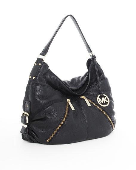 Portland Large Shoulder Bag, Black
