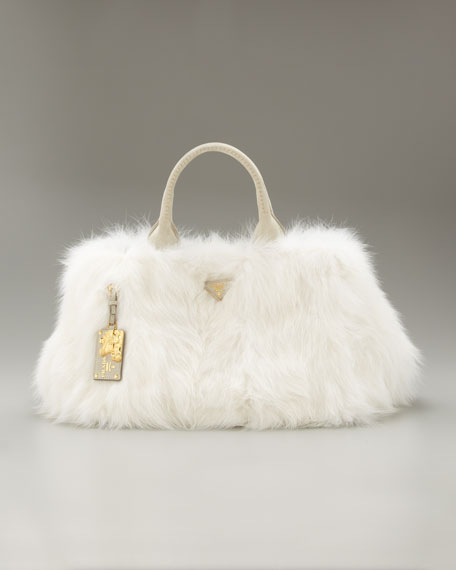 Fur Open-Top Tote