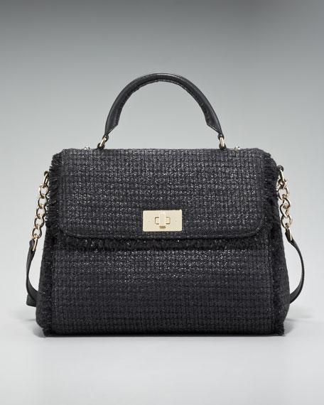 nadine shimmer tweed satchel