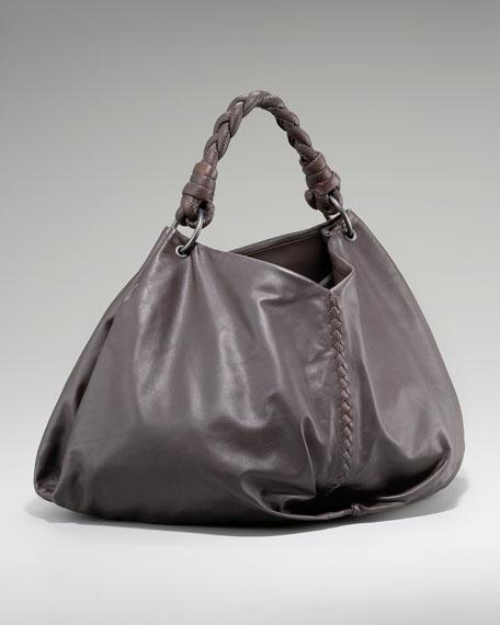 Snakeskin-Handle Bag, Large