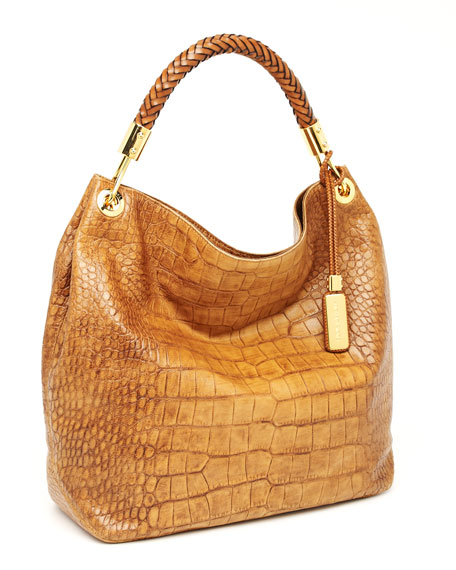 Skorpios Large Shoulder Bag, Tan