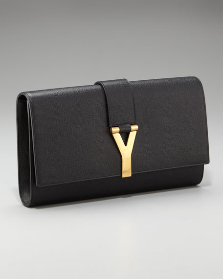 "Leather ""Y"" Clutch"