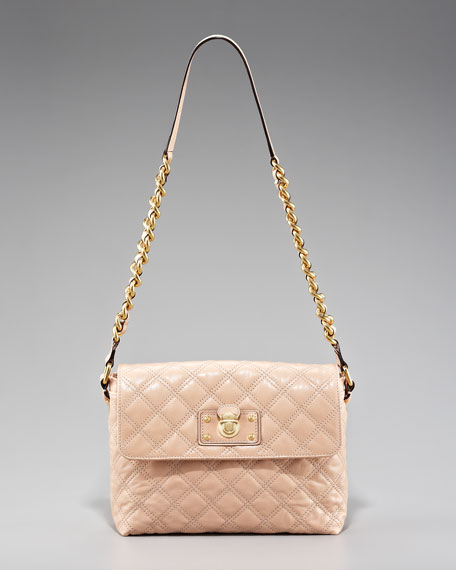 Large Single Quilted Bag, Blush