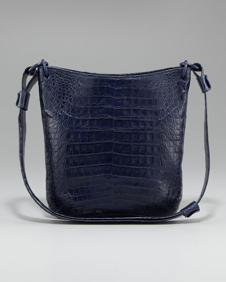 Crocodile Messenger Bag, Small