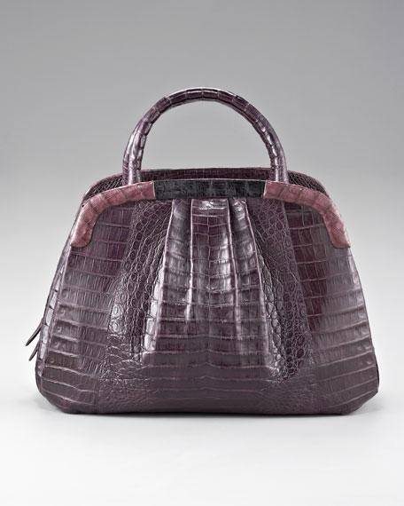 Top-Handle Crocodile Handbag