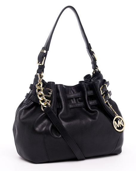 Edie Large Shoulder Bag, Black