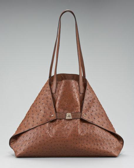 Medium Ostrich Leather Ai Bag