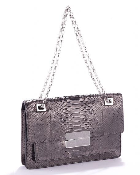 Quinn Rectangular Shoulder Bag, Anthracite