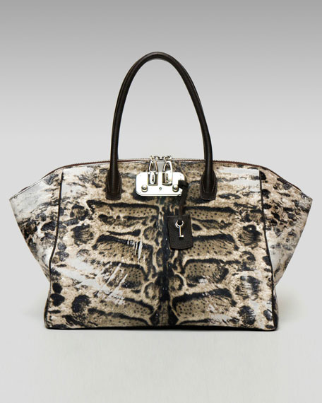Animal-Print Brera Tote