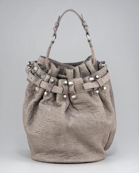 Diego Bucket Bag, Gray