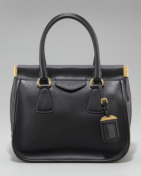 Saffiano Lux Top Handle Frame Tote