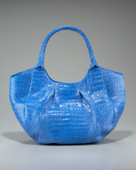Crocodile Collapsible Hobo, Chambray