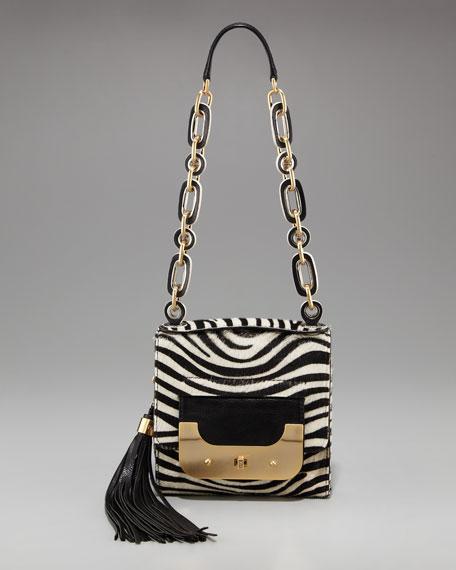 Harper Zebra-Print Shoulder Bag