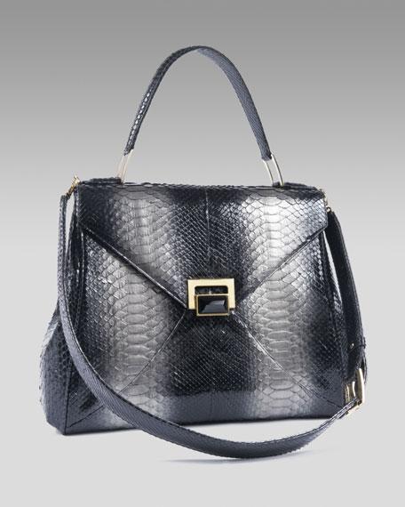 Trinity Python Lady Bag, Platina