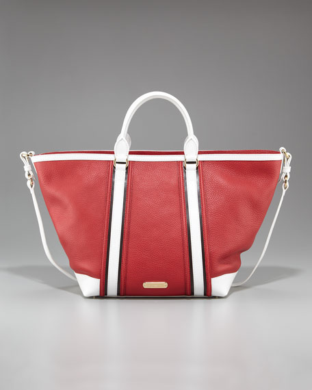 Two-Tone Tote, Military Red