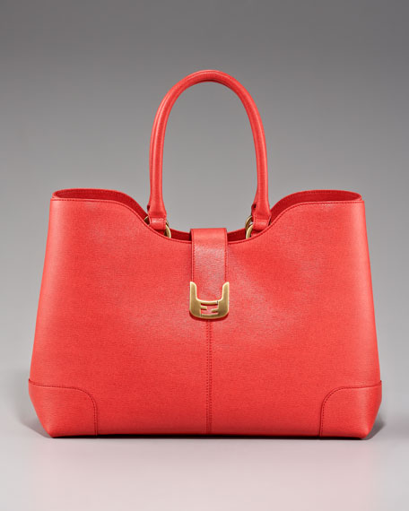 Large Chameleon Dip-Top Satchel