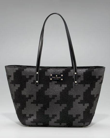 harmony sparkle houndstooth tote