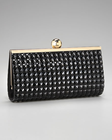anastasia clutch, black