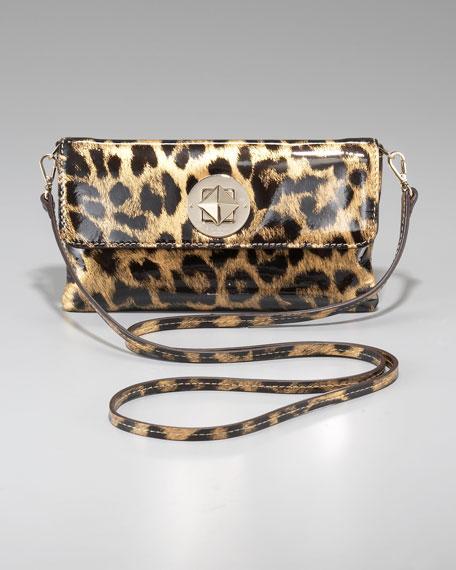 leopard-print missy clutch