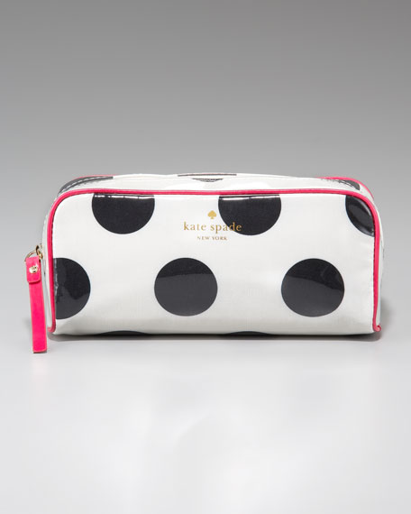 polka-dot henrietta cosmetic case, small