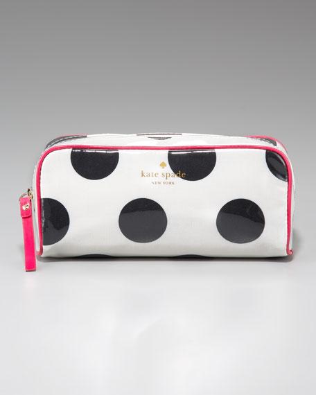 polka-dot henrietta cosmetic case, small