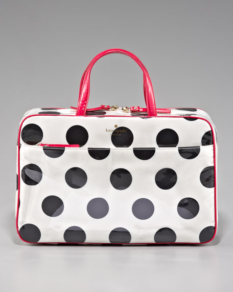 polka-dot manuela cosmetic case, large