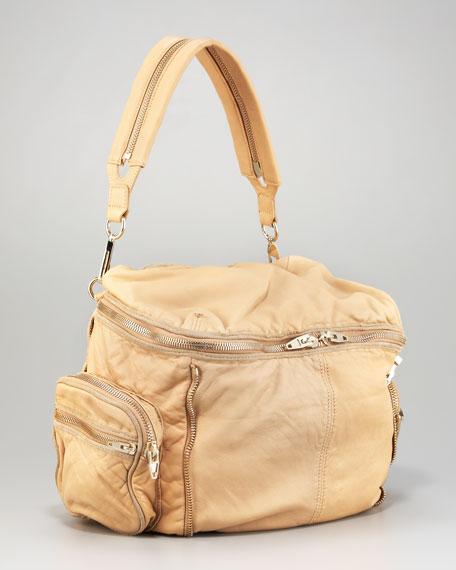Leather Jane Zip-Around Bag