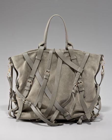 Kristen Leather Harness Tote, Granite