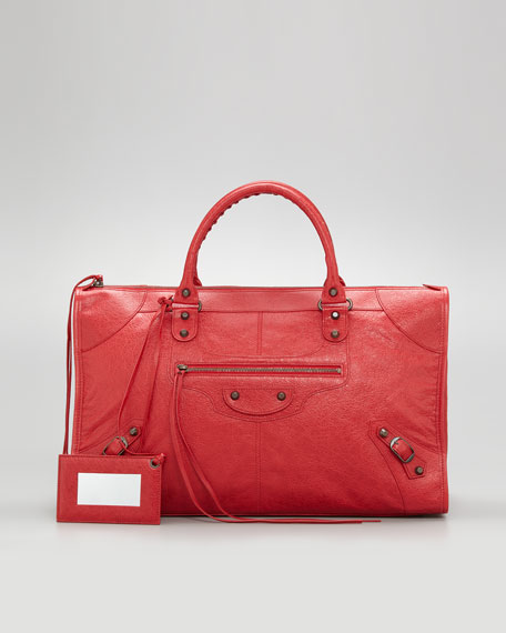Classic Work Bag, Coquelicot/Rouge