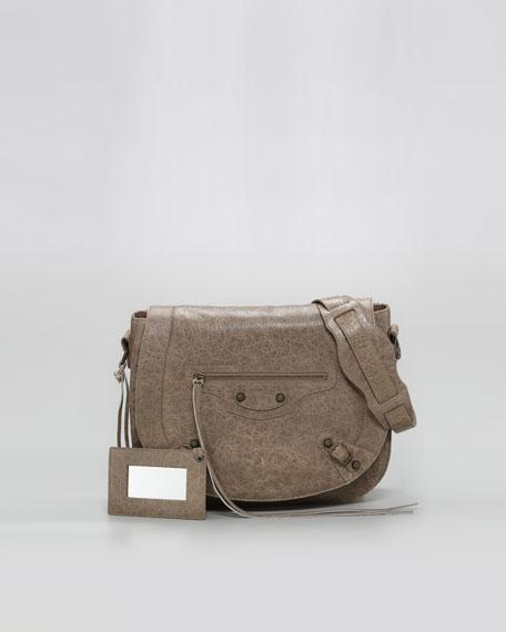Classic Neo Folk Bag, Gris Poivre