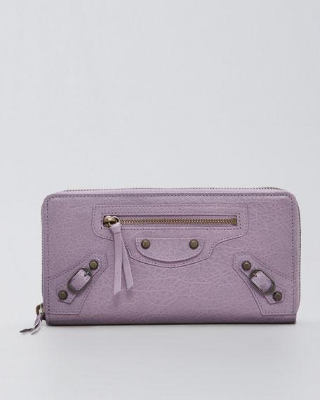 Classic Continental Zip Wallet, Glycine