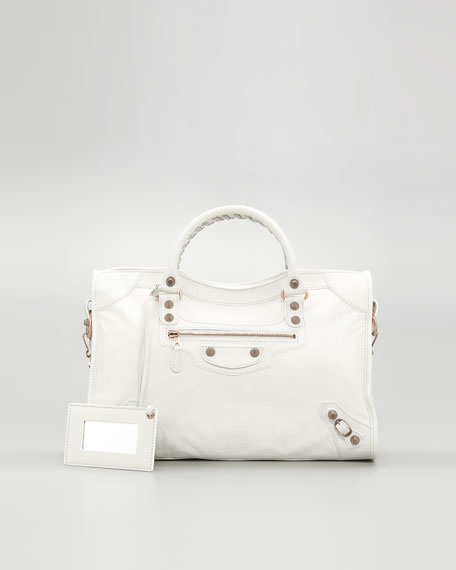 Giant 12 Rose Golden City Bag, Bianco Light