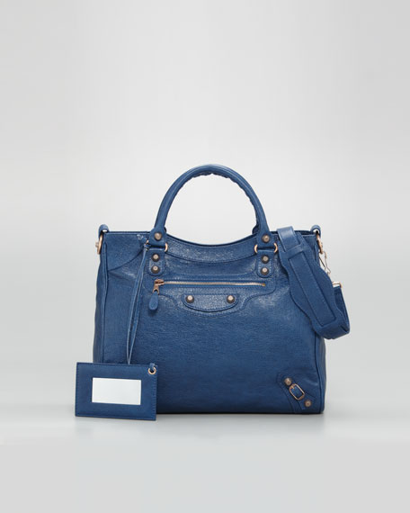 Balenciaga Giant 12 Rose Golden Velo Bag, Blue Cobalt