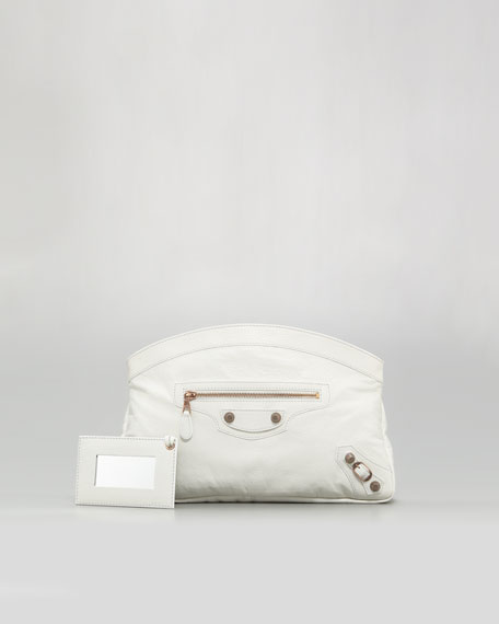 Giant 12 Rose Golden Premier Clutch Bag, Bianco Light