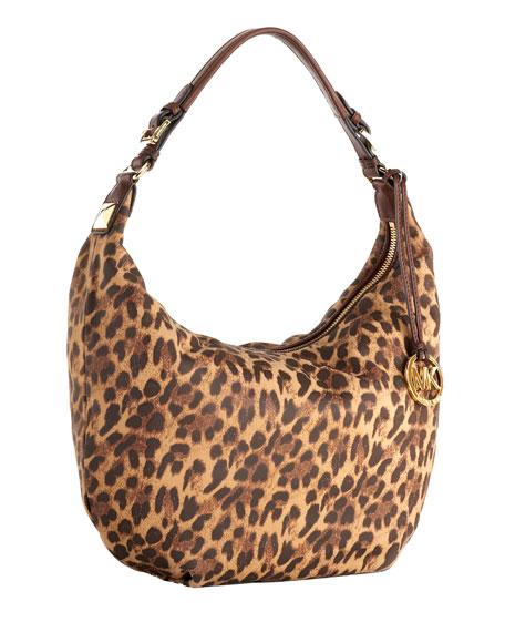 Grayson Large Shoulder Bag, Cheetah