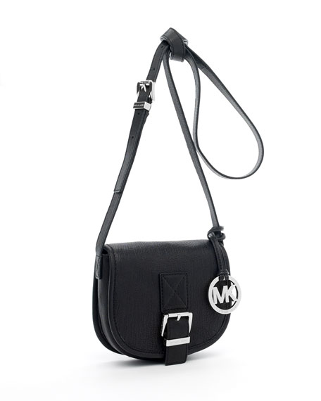 Small Saddle Bag Messenger, Black