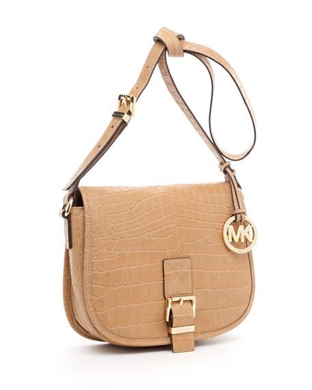 Medium Saddle Bag Messenger, Peanut