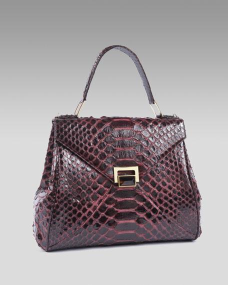 Trinity Python Lady Bag, Wine