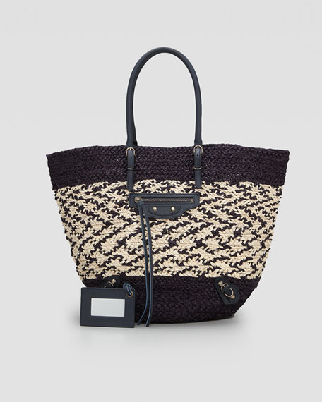 Panier Basket Tote Bag, Marine Blue