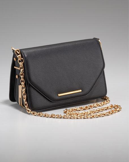 Charlotte Chain-Strap Bag, Black