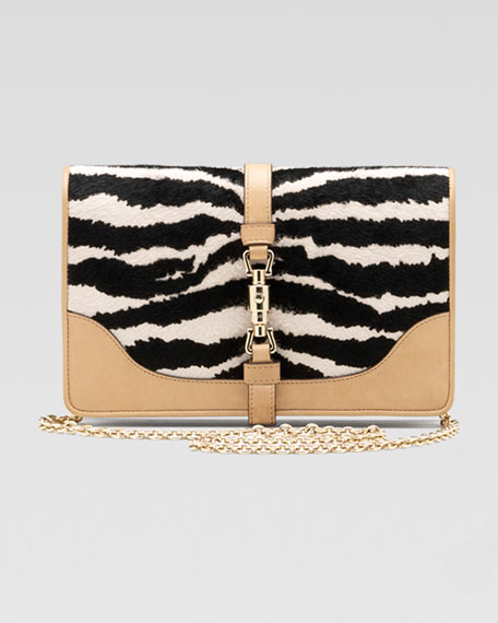 Broadway Evening Bag, Animal-Print Calf Hair